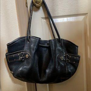 Cole Han pebble leather  studded satchel